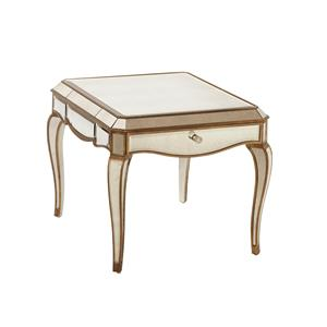 Bassett Mirror Hollywood Glam Collette Rectangle End Table