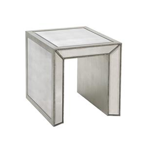 Bassett Mirror Hollywood Glam Murano Rectangle End Table