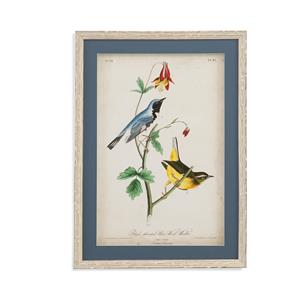Bassett Mirror Home Accents Blue Wood Warbler