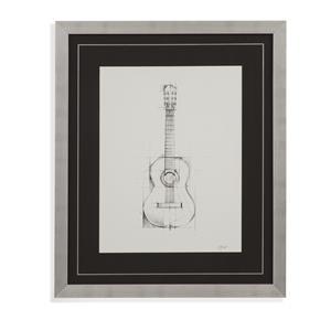 Bassett Mirror Home Accents Guitar Sketch