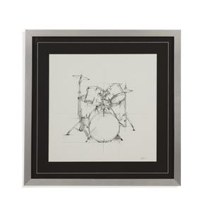 Bassett Mirror Home Accents Drum Sketch