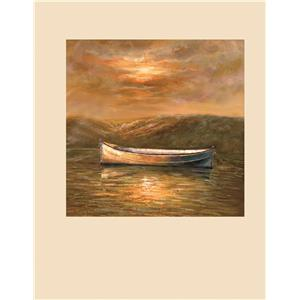 Bassett Mirror Old World Sunset Canoe- Canvas