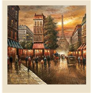 Bassett Mirror Old World Paris Nights- Canvas