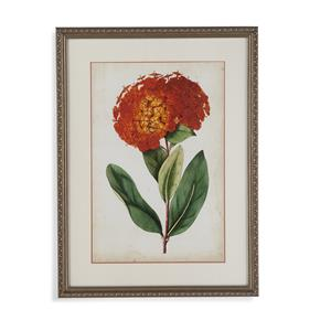 Bassett Mirror Old World Tangerine Floral II