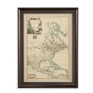 Bassett Mirror Old World Antique Map of America III