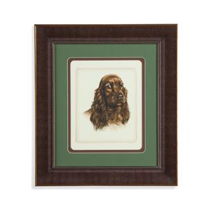 Bassett Mirror Old World Danchin Red Cocker Spaniel