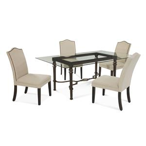 Bassett Mirror Old World Lido Casual Dining Set