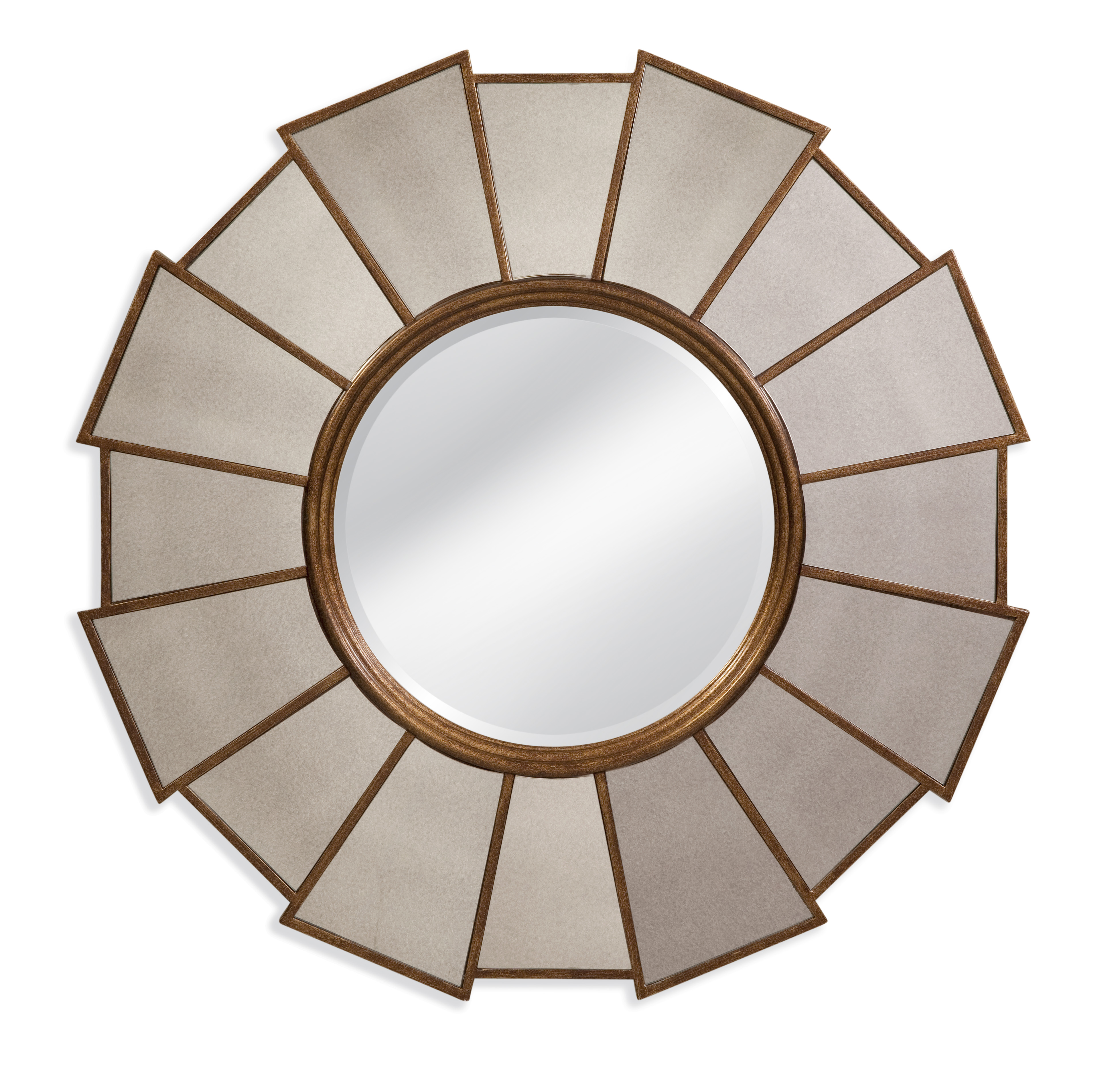 twou0027s company gold leaf round wall mirrors set of 3
