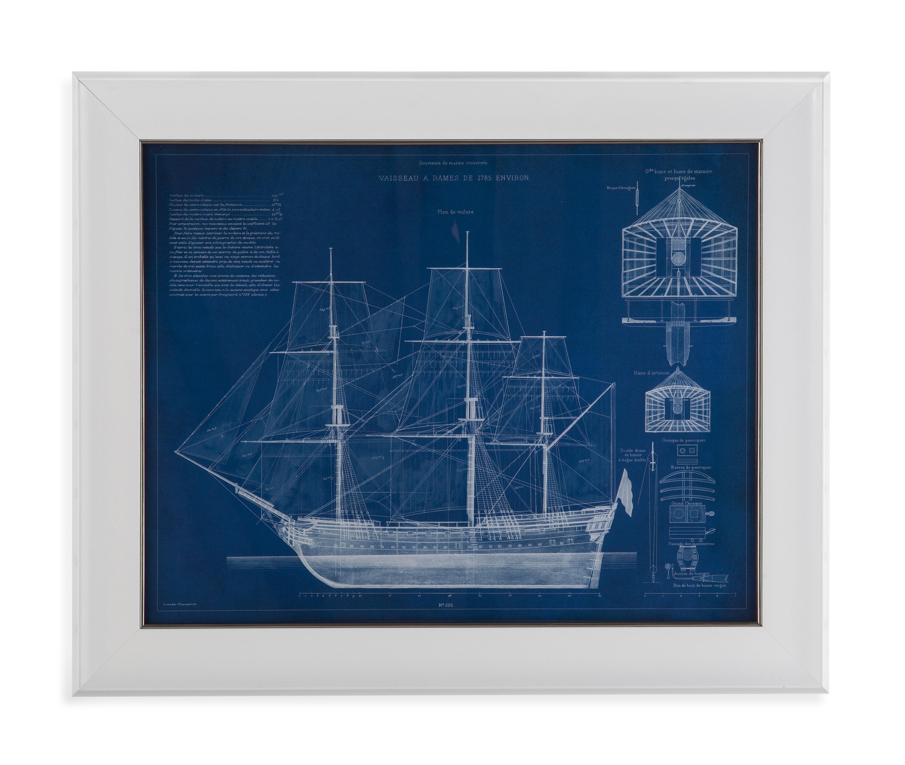 Antique Ship Blueprint IV