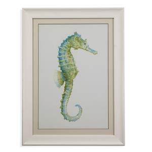 Bassett Mirror Pan Pacific Watercolor Seahorse I