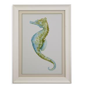 Bassett Mirror Pan Pacific Watercolor Seahorse II