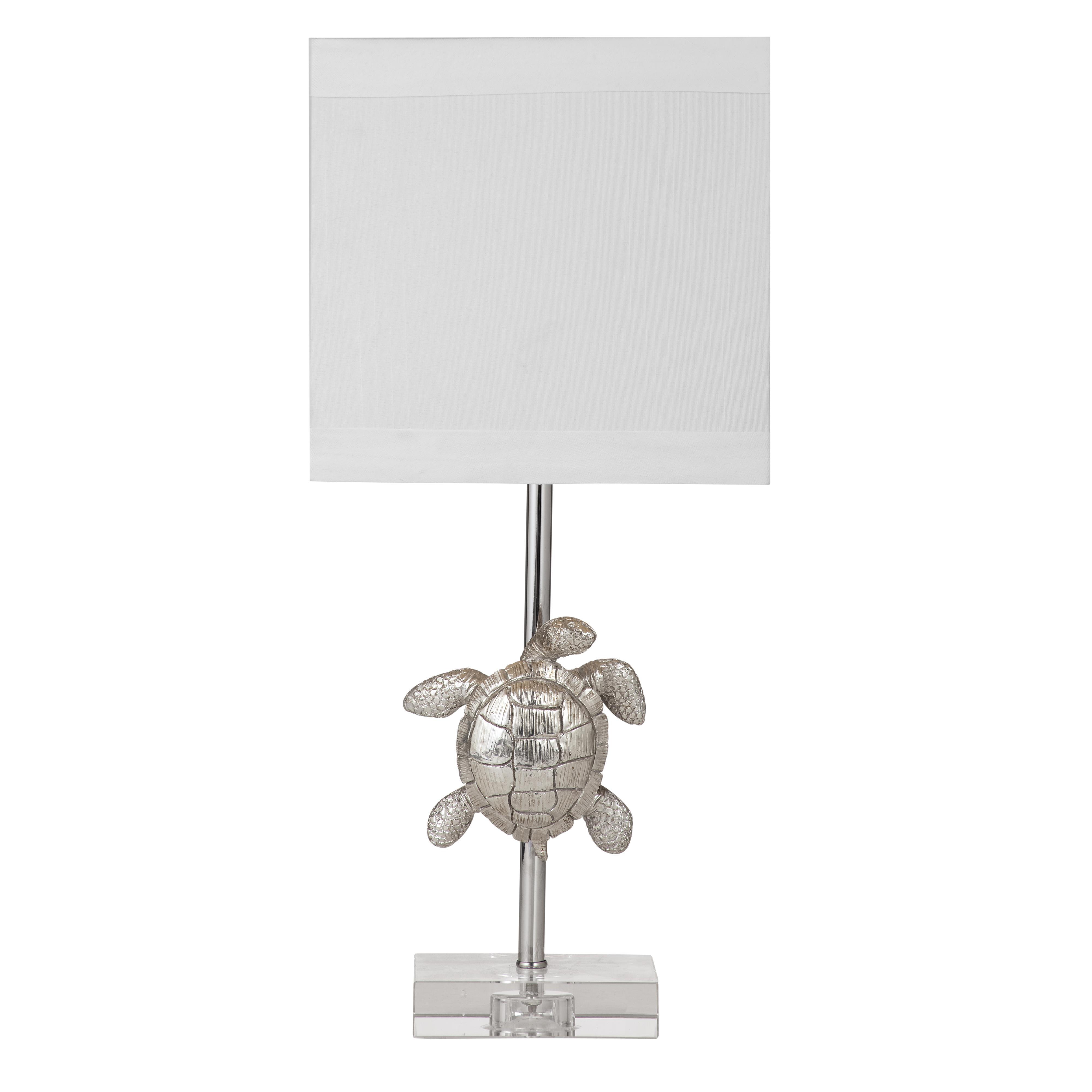 Silver Turtle Table Lamp