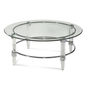 Bassett Mirror Thoroughly Modern Cristal Cocktail Table