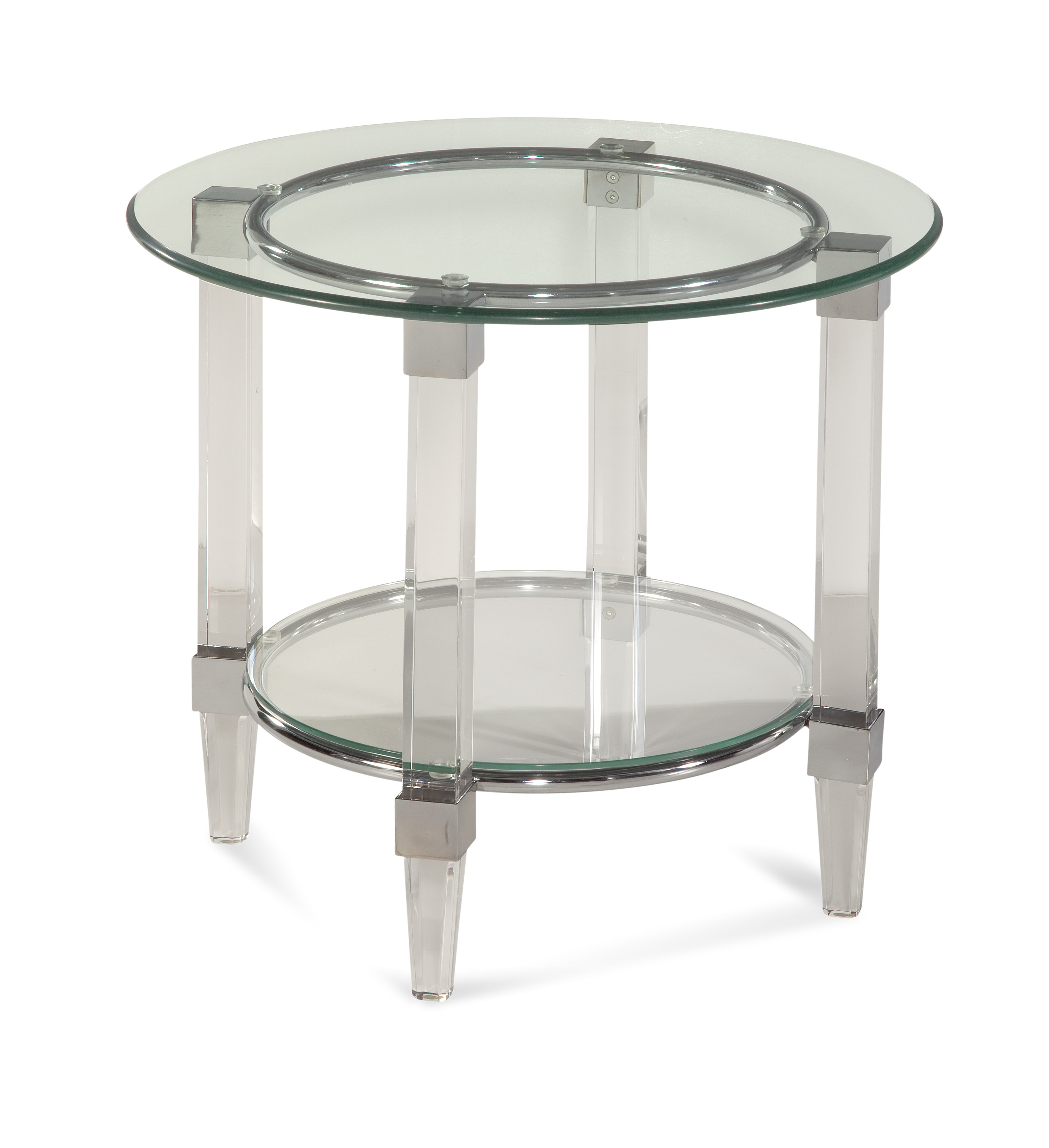 Bassett Mirror Thoroughly Modern Cristal Round End Table - Item Number: 2929-220