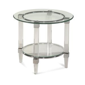 Bassett Mirror Thoroughly Modern Cristal Round End Table