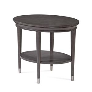 Bassett Mirror Thoroughly Modern Essex Oval End Table