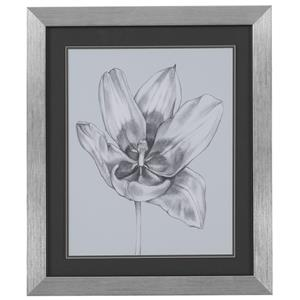 Bassett Mirror Thoroughly Modern Silvery Blue Tulips II