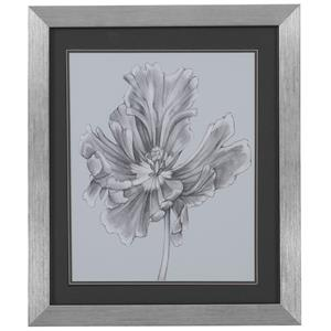Bassett Mirror Thoroughly Modern Silvery Blue Tulips III