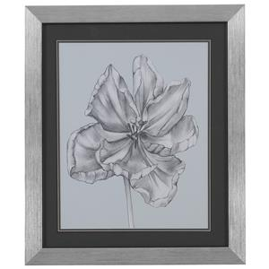 Bassett Mirror Thoroughly Modern Silvery Blue Tulips IV