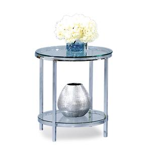 Patinoire Round End Table