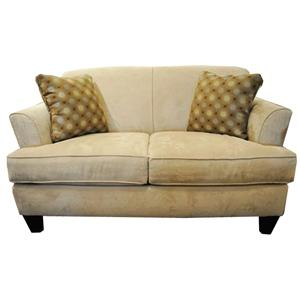 Bauhaus 103A Contemporary Love Seat with Tapered Legs