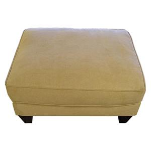 Bauhaus 103A Contemporary Ottoman with Tapered Legs