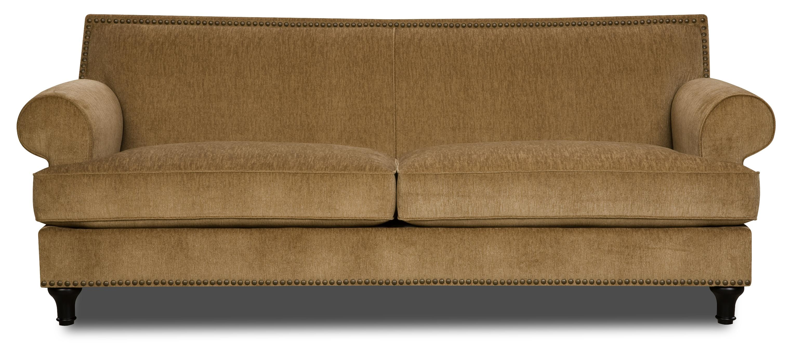 Bauhaus 129K Traditional Sofa with Tight Seat Back and Rolled Arms