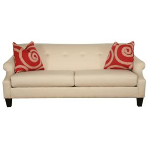 Bauhaus 153 Two-Cushion Sofa with Rolled Arms and Button-Tufting