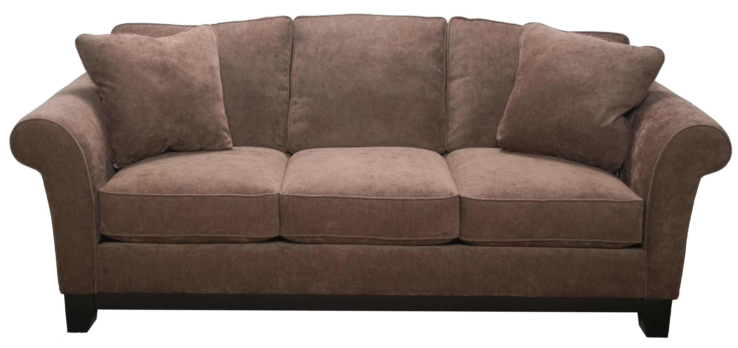 Bauhaus 33SMA Transitional Sofa with Exposed Wood Base AHFA