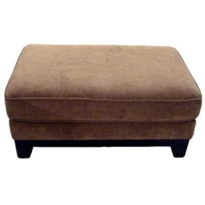 33SMA Ottoman with Exposed Wood Base by Bauhaus