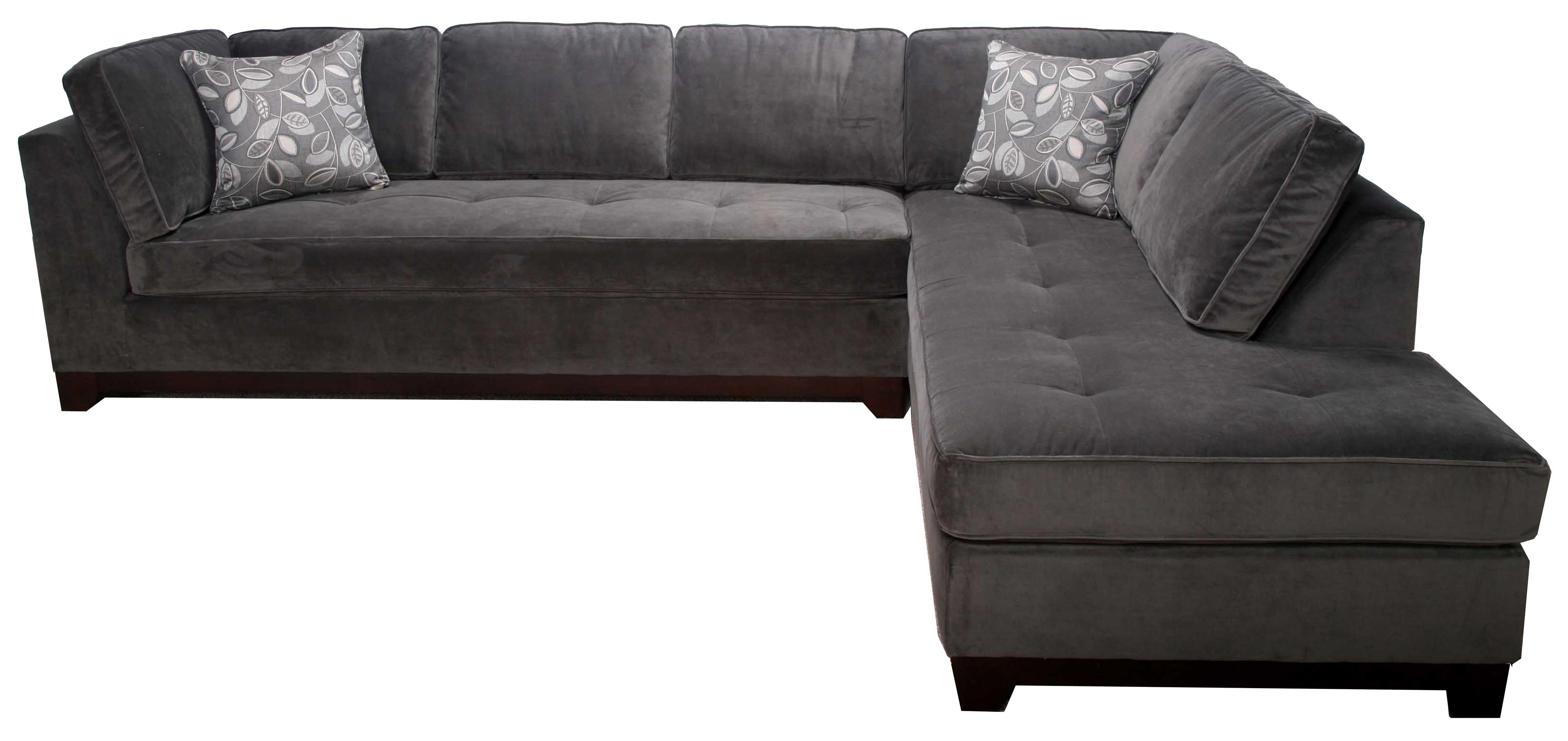 Bauhaus 536A Contemporary 2 Piece Sectional with Chaise AHFA