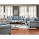 Bauhaus 714 Loveseat with Rolled Arms