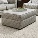 Bauhaus 907A Transitional Storage Ottoman - Item Number: 907A-84-GraphicLatticeGray