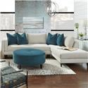 Metro Collection Braddock Sofa Chaise - Item Number: 648A-11+53