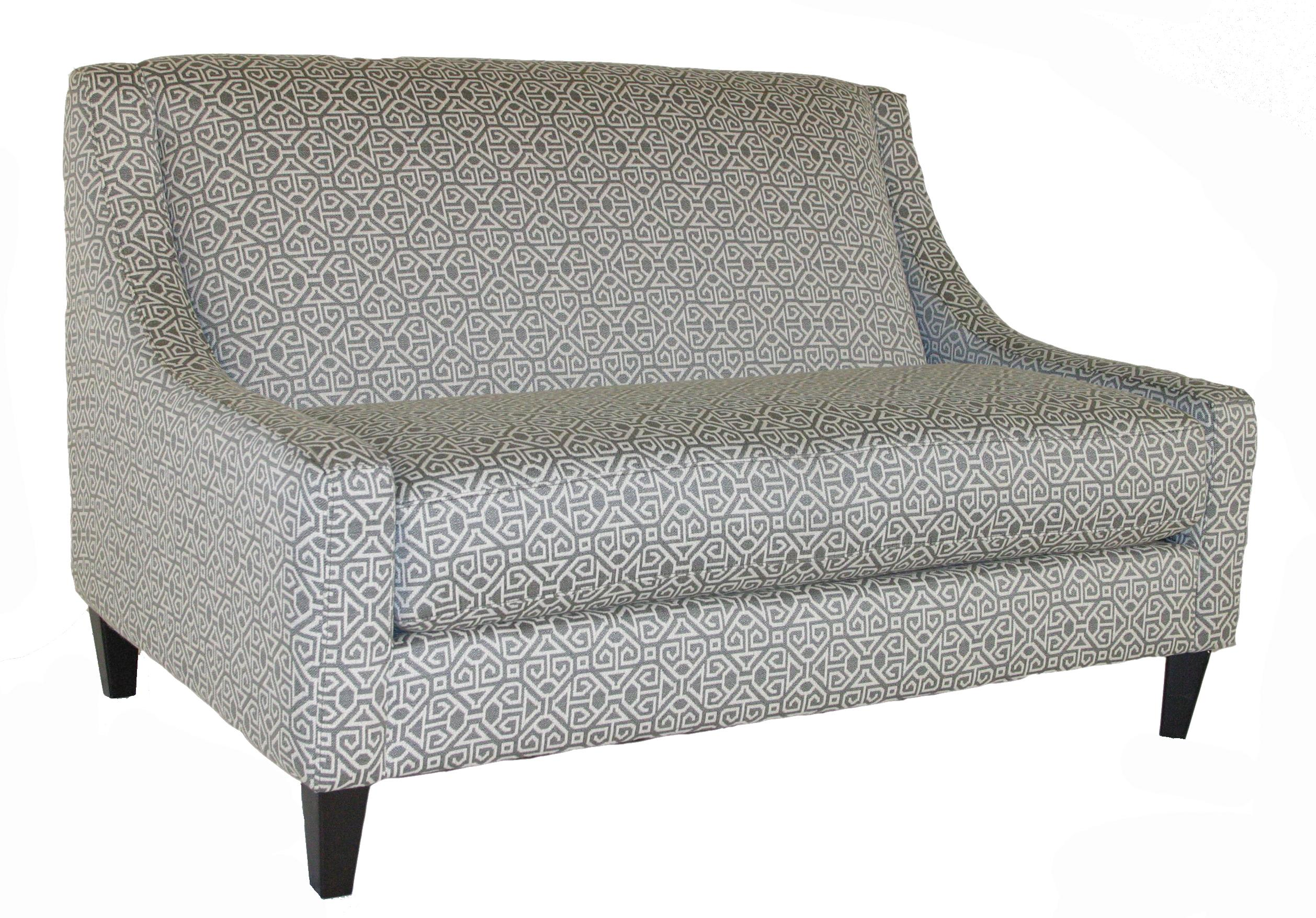 Bauhaus Connick Contemporary Settee - Item Number: 141V330 Luikin Pewter