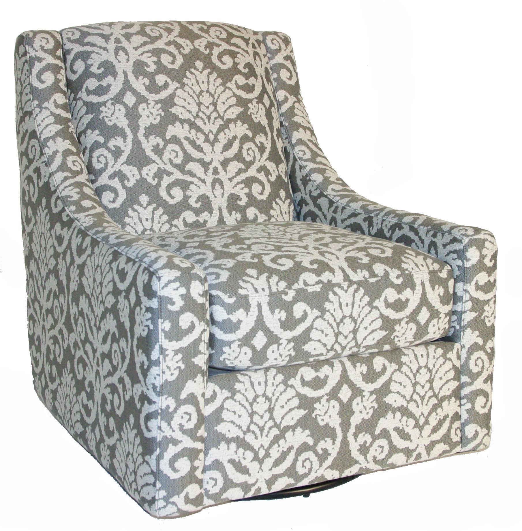 Bauhaus Connick Contemporary Swivel Chair - Item Number: 452U-44 Katniss Pewter