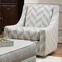 Bauhaus Connick Contemporary Swivel Chair - Item Number: 452U-44-ChevronPixelGrey
