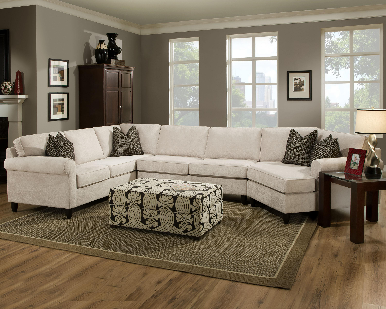 Bauhaus Fray Casual Sectional with Rolled Sock Arms - AHFA - Sofa Sectional Dealer Locator : bauhaus sectional couch - Sectionals, Sofas & Couches