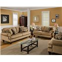 Bauhaus G07U Stationary Sofa with Rolled Arms - G07U-10 - Shown with Love Seat and Arm Chair