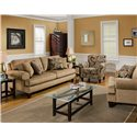 Bauhaus G07U Stationary Sofa with Rolled Arms - G07U-10 - Shown with Accent Chair and Arm Chair
