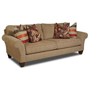 Bauhaus G09A Stationary Sofa with Exposed Wooden Feet