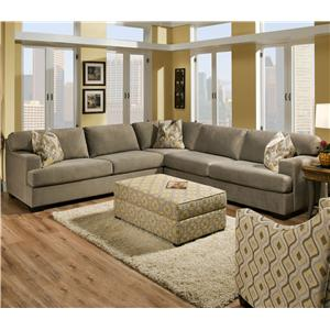 Contemporary 3 Piece Sectional