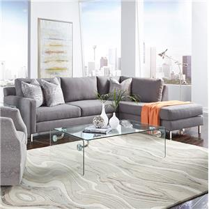 Metro Collection Clarendon Sofa Sectional with Chaise