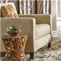 Metro Collection Reston Contemporary Chair and a Half with Track Arms