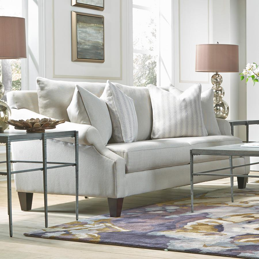 French furniture sofa - Metro Collection Mclean Transitional French Sofa Item Number K09a 10 Cream