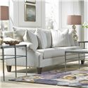 Metro Collection McLean Transitional French Sofa with Sloping Rolled Arms