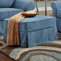 Bauhaus Ava Ottoman with Slipcover - Item Number: P26MF80+P26AS80-Samantha Denim