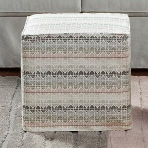 R20 Slipcovered Cube Ottoman by Bauhaus