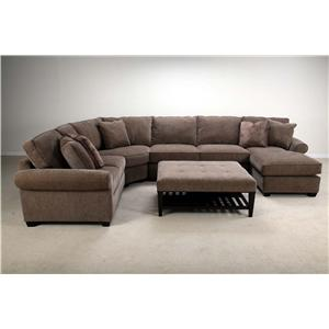 Bauhaus U09a Stationary Sectional With Right Facing Chaise Ahfa Sofa