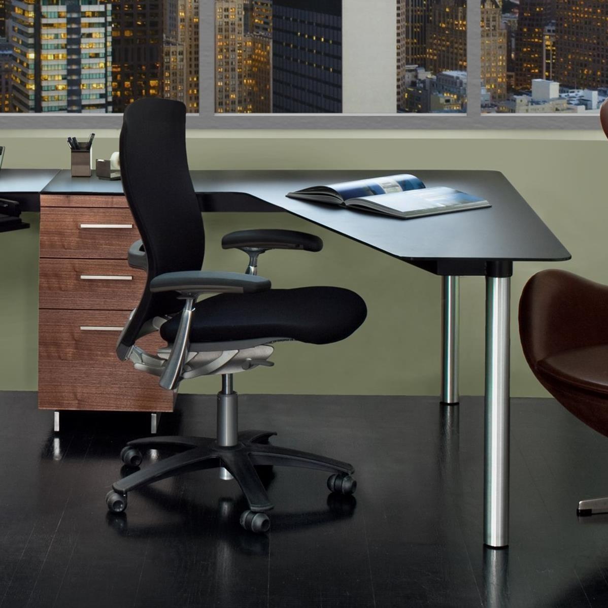 BDI Sequel Peninsula Desk With File Cabinet   Item Number: 6018R+6014 WL